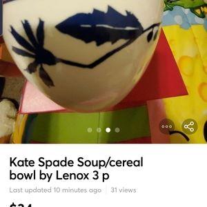 Kate Spade soup/ cereal bowl 3pcs. LENOX